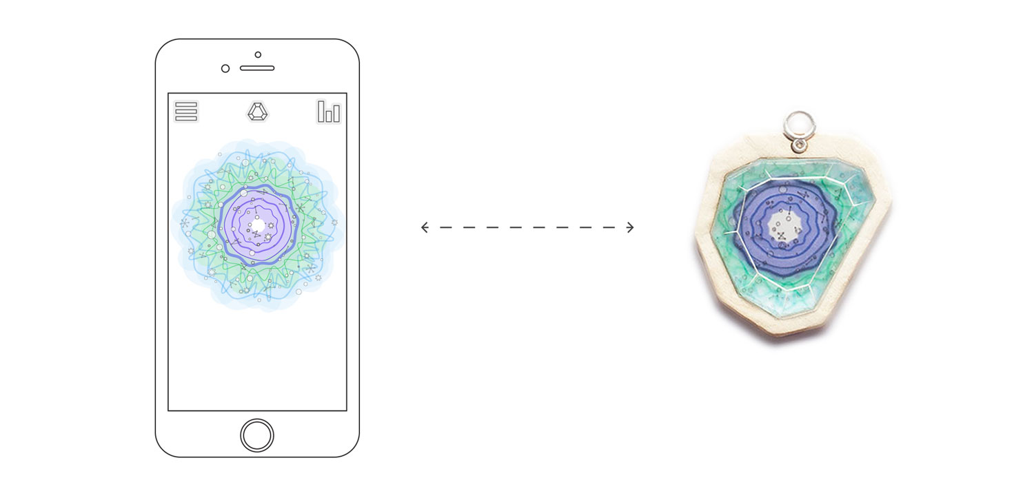interface screen designs for the aura smartphone app